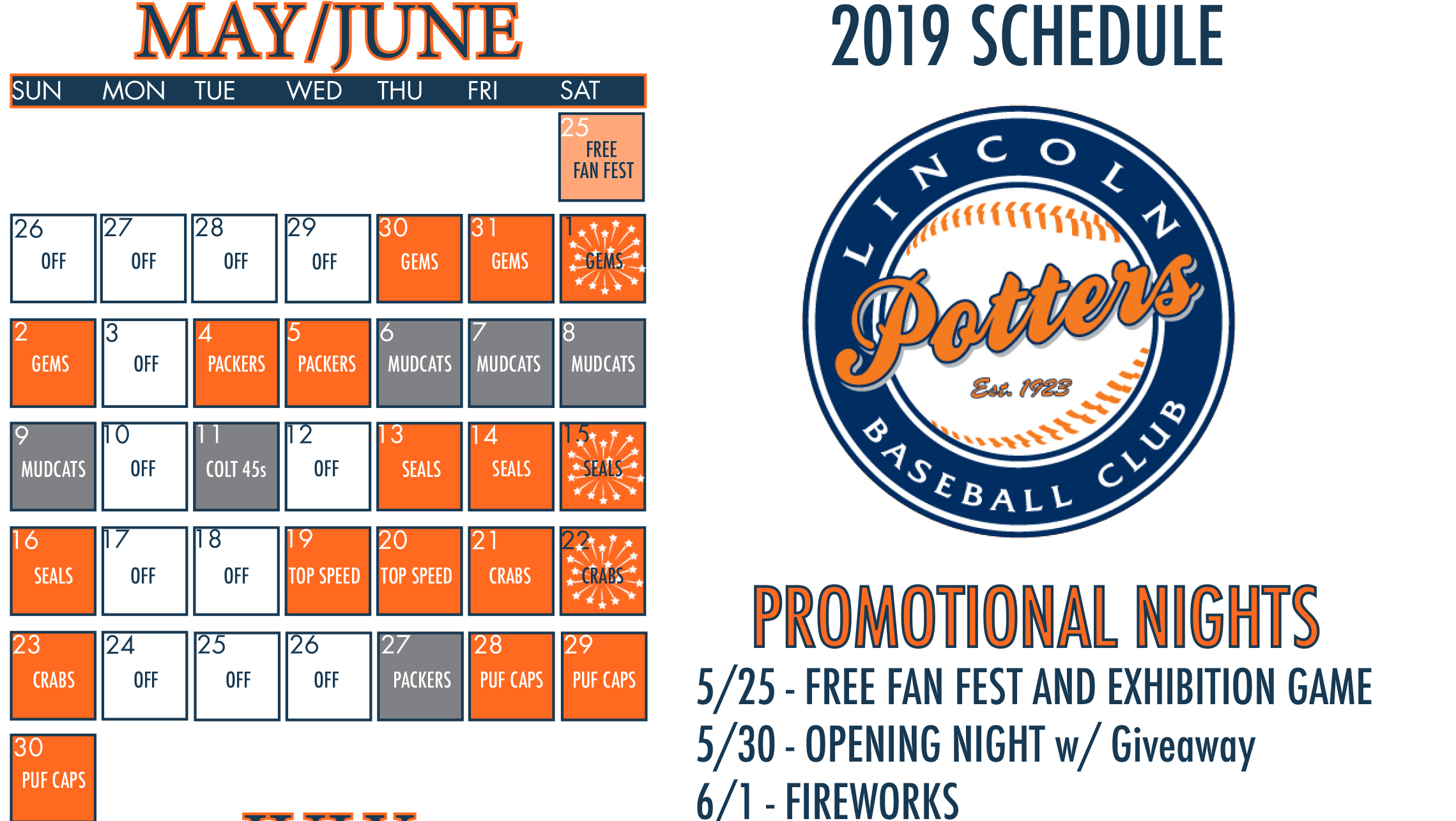 graphic regarding Packers Printable Schedule identify The Formal Web of the Lincoln Potters: Information